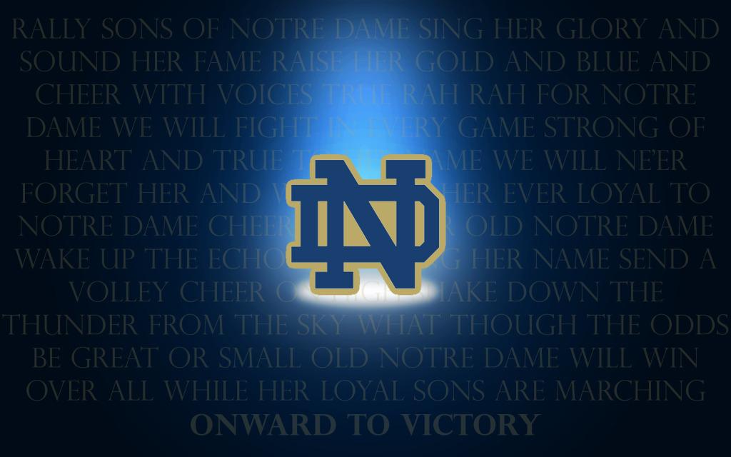 Notre Dame Football Wallpaper Desktop 1024x640