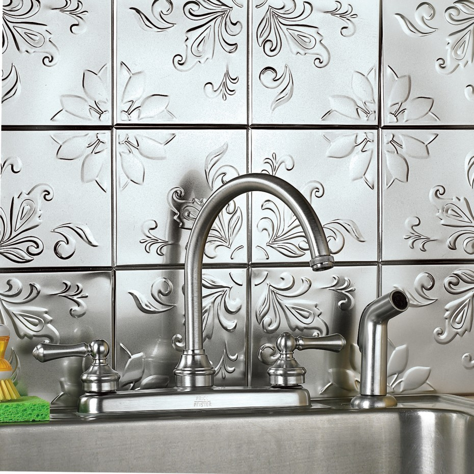 Kitchen Tiles Cool And Charming Chrome