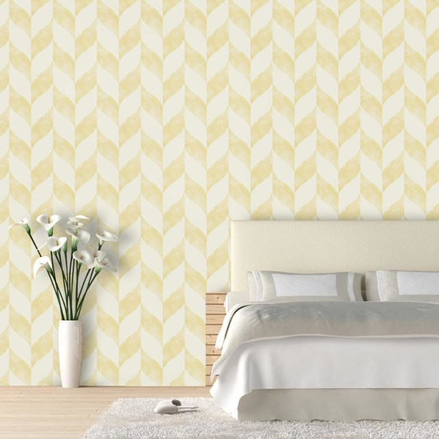 Distressed Chevron Wallpaper 45feet   Contemporary   Wallpaper   by 640x640