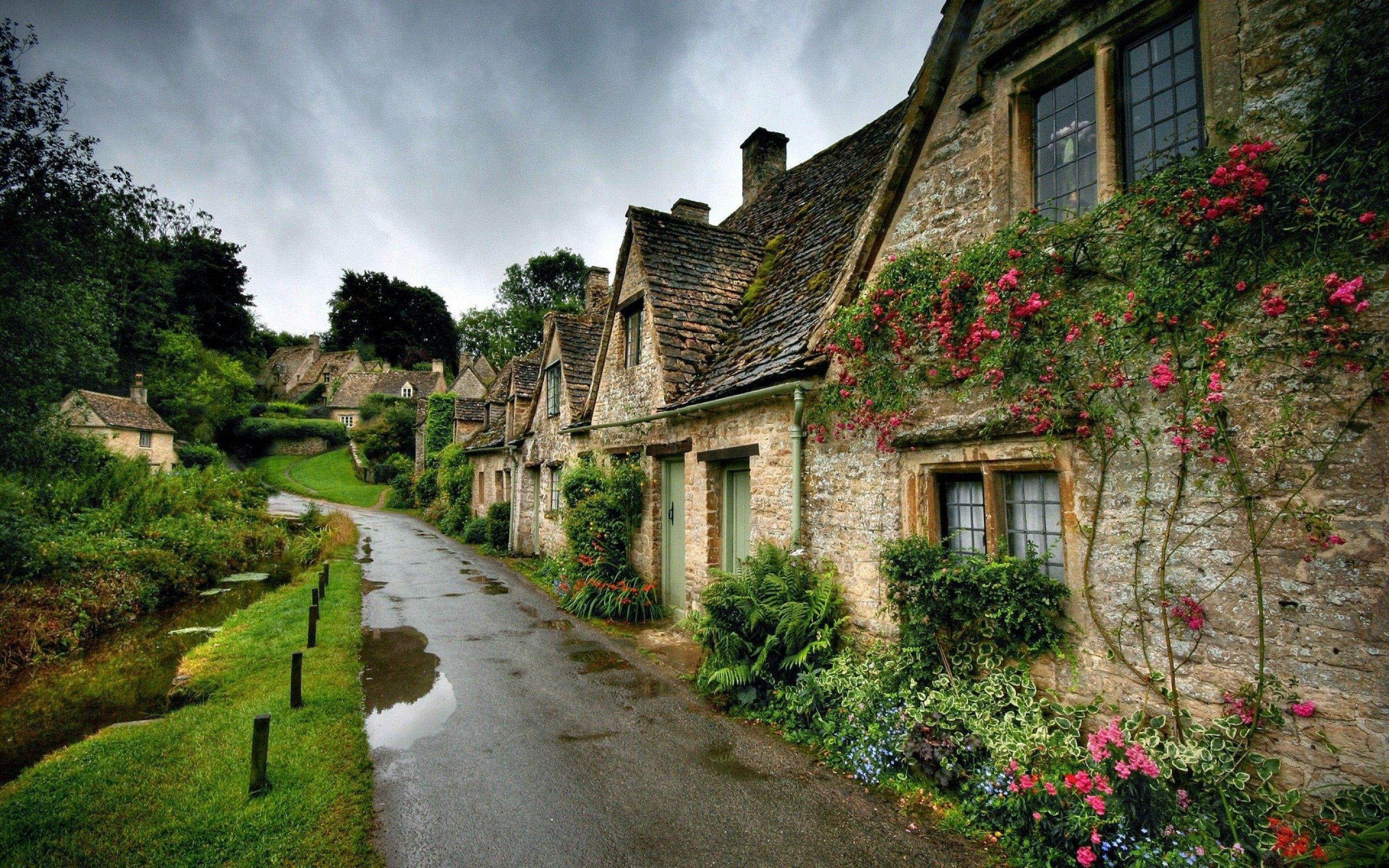 Bibury England Beautiful Village Wallpaper HD Download 2560x1600