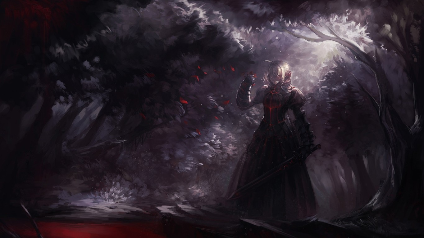 Saber Alter   Fate stay night wallpaper 14514 1365x768