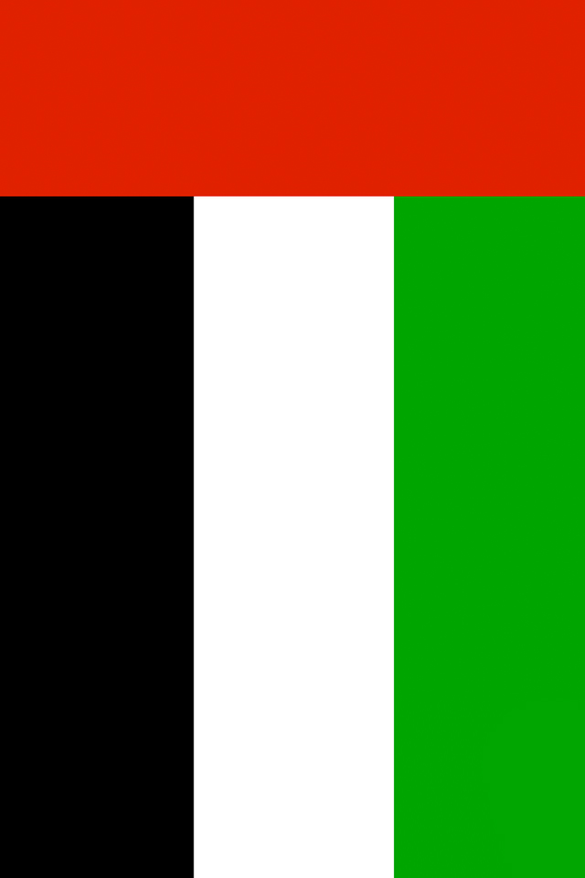 United Arab Emirates Flag iPhone Wallpaper HD 640x960