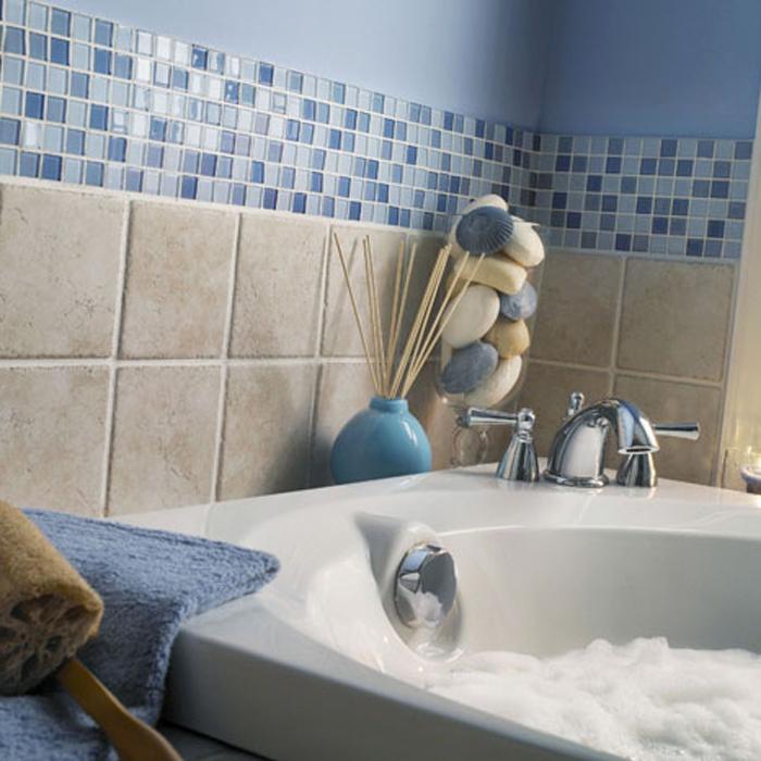 Mosaic Wallpaper Borders Bathroom Wallpapersafari