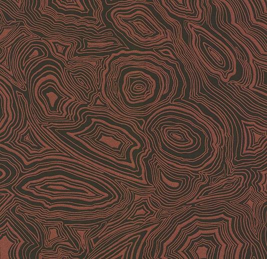 Wallpaper Metallic copper and black malachite effect wallpaper 534x517