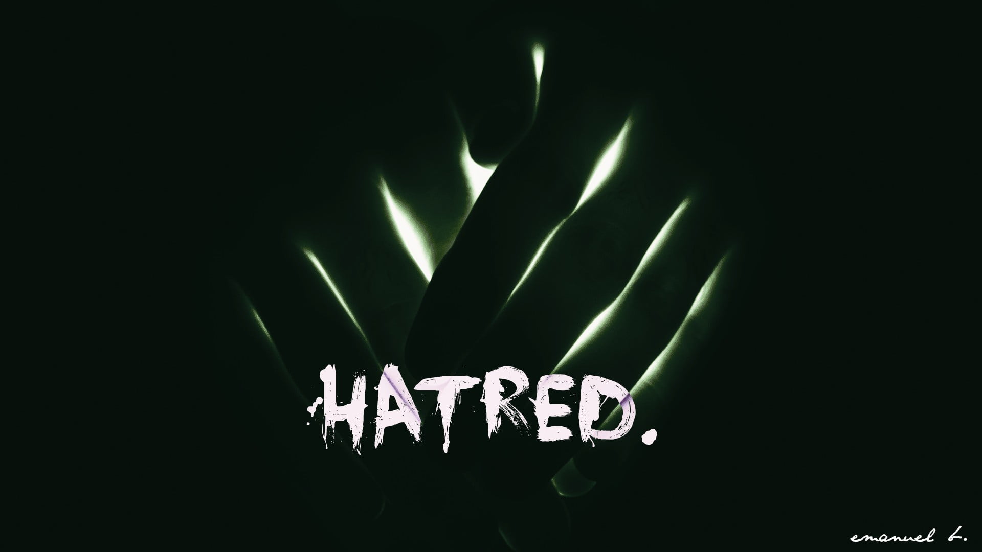 White and black Hatred logo HD wallpaper Wallpaper Flare 1920x1080
