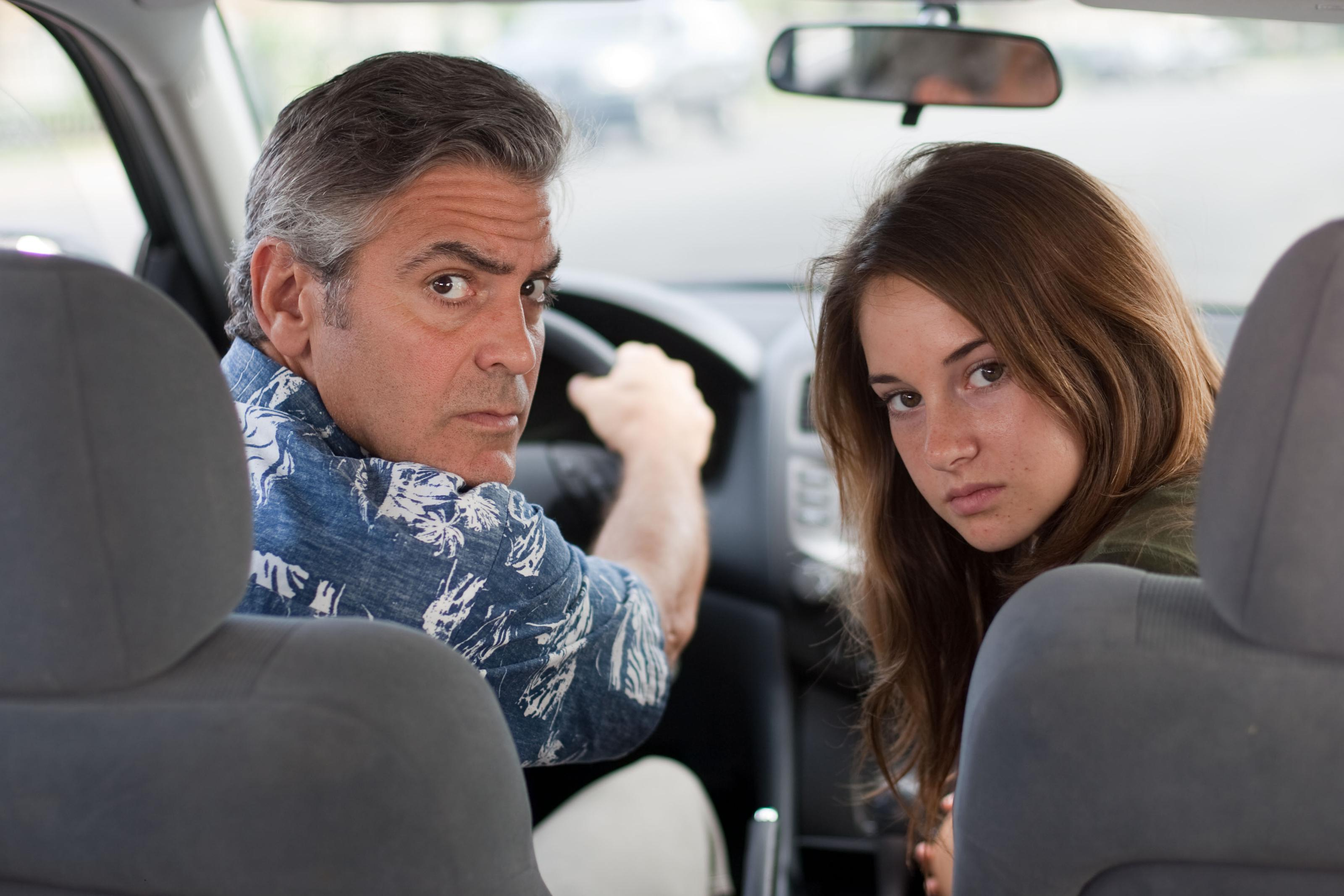 wallpaper the descendants george clooney shayleen woodley HD 3200x2133