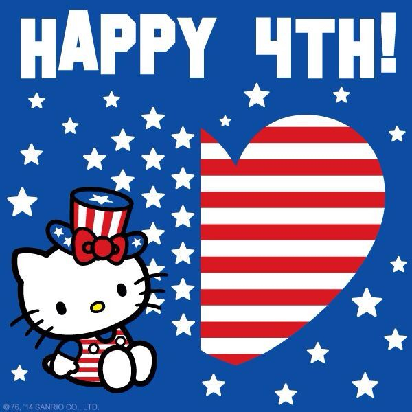 Hello kitty memorial day wallpapers wallpapersafari for Hello kitty 4th of july coloring pages