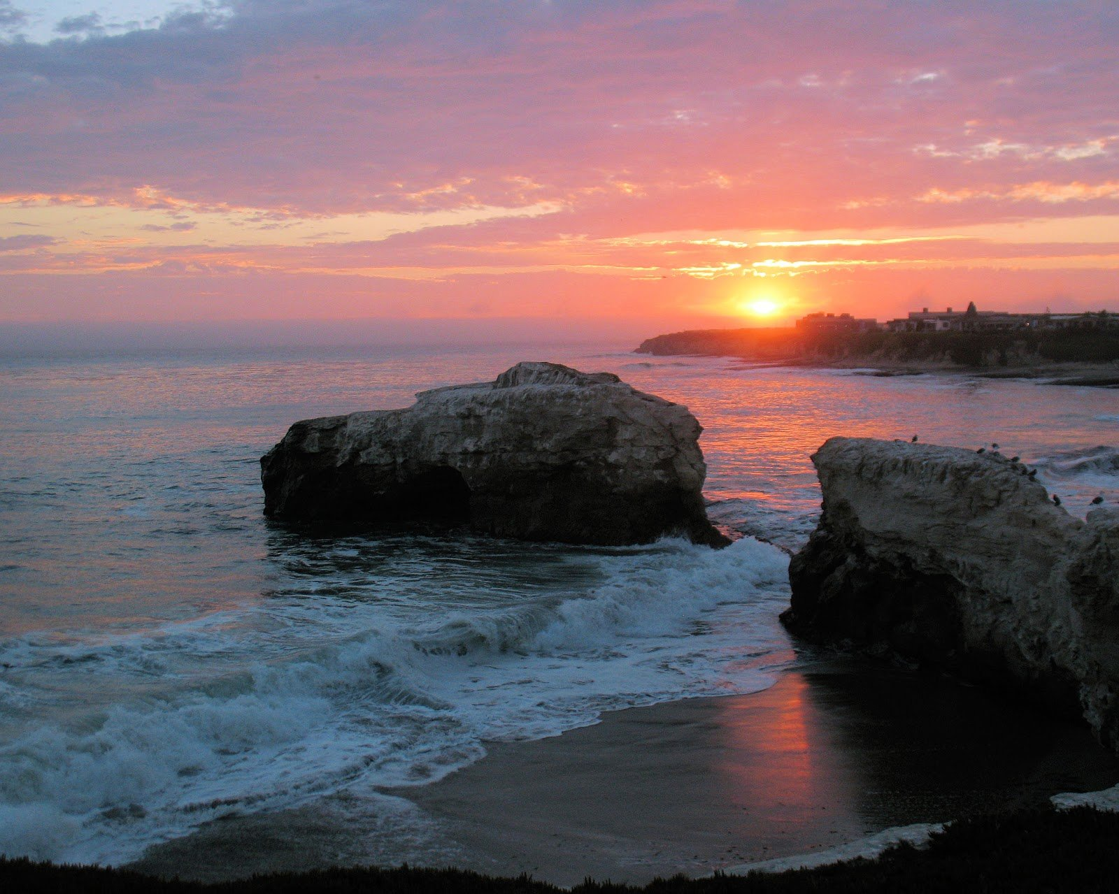 California Beach Beautiful Sunset Wallpaper on this Beach Wallpaper 1600x1279