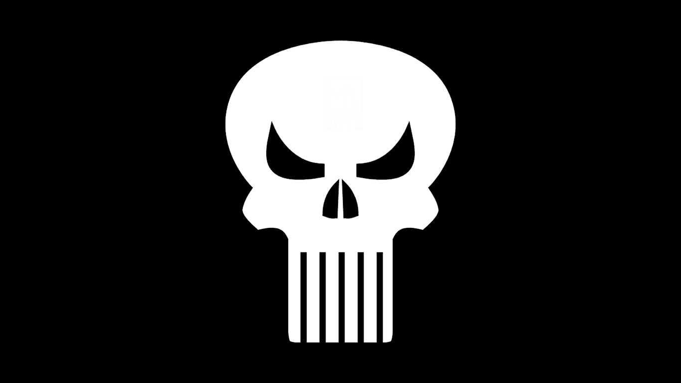 Punisher Symbol WP by MorganRLewis 1366x768