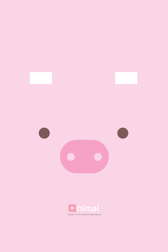 wallpapers backgrounds pictures photos iphone 4 wallpaper pink pig 640x960