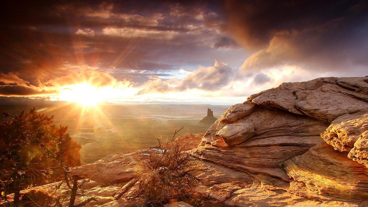 Desert Sunrise Wallpapers 1280x720