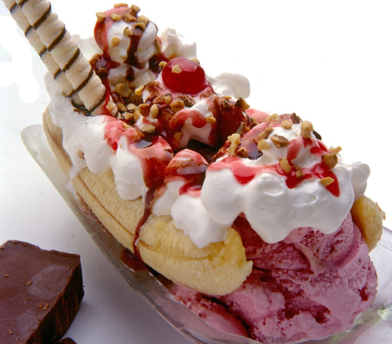 Pin Banana Split Food Wallpapers And Backgrounds 800x703