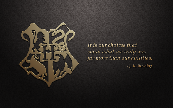 Hogwarts Crest Wallpaper Hogwarts crest with quote by 600x375