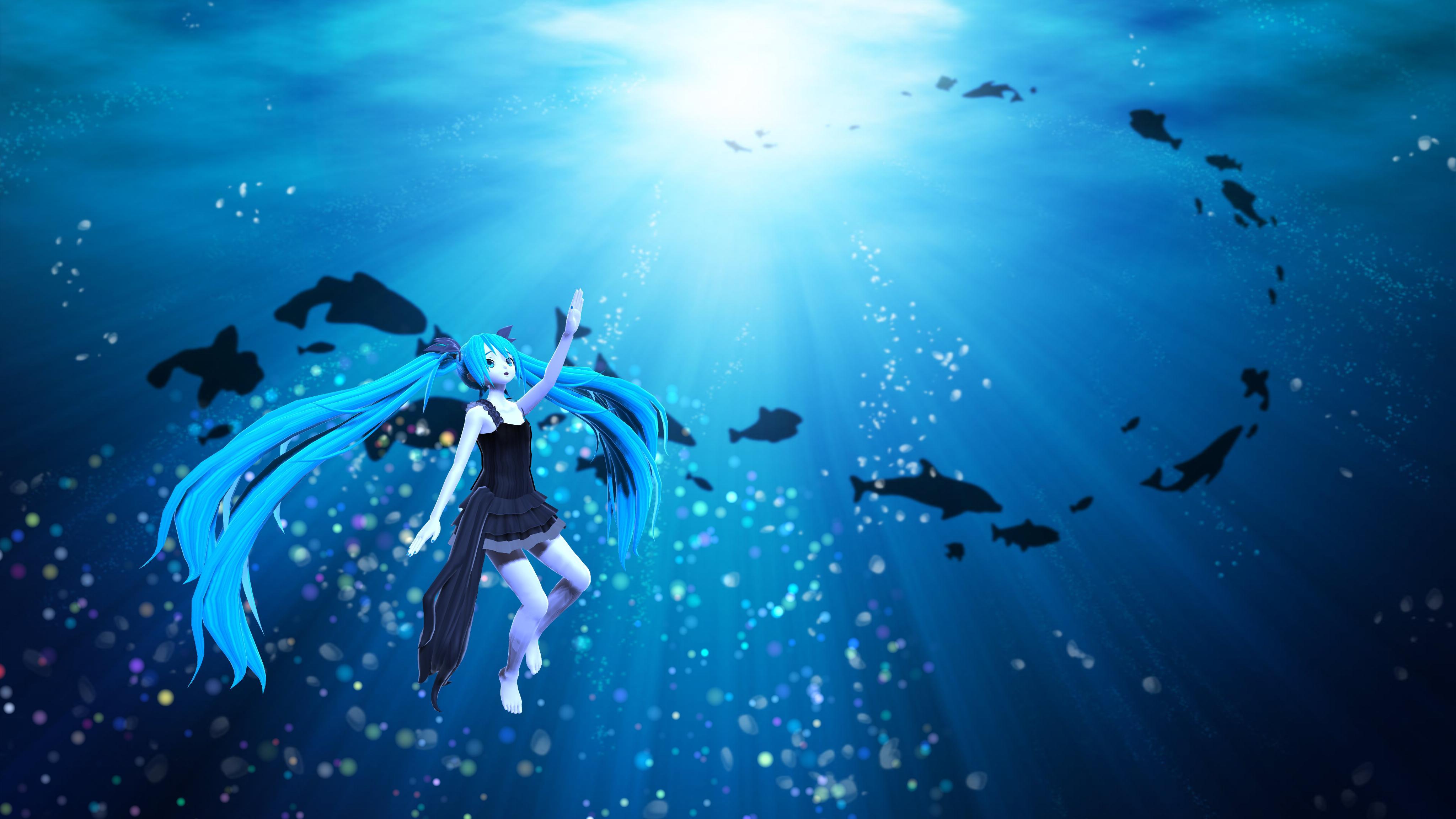 MMD] Deep sea girl   Shinkai shoujo Wallpaper 2 by ManjapanUniverse 4096x2304