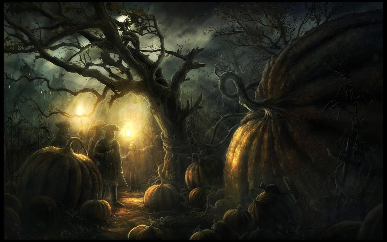 group of 1680x1050 freaky halloween desktop