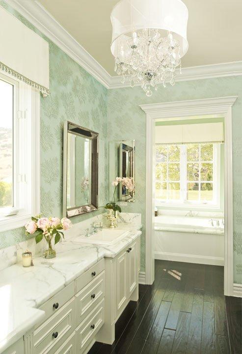 Wallpaper for Bathrooms   Traditional   bathroom   Alexandra Rae 493x720