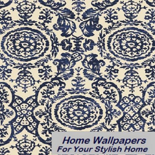 Thibaut Wallpaper   Richmond   Sansome T4151 Navy 500x500