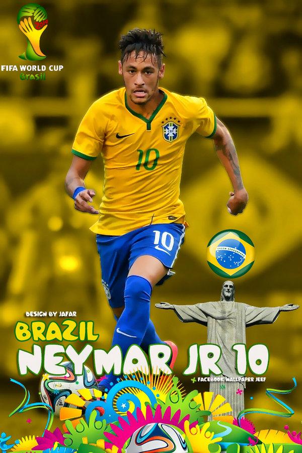 Brazil neymar wallpaper wallpapersafari - Neymar brazil hd ...