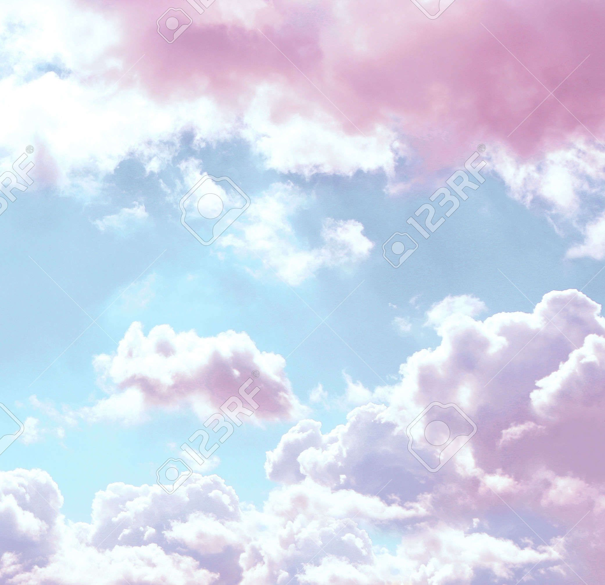 Blue sky background with pink clouds Blue sky background Pink 2082x2014