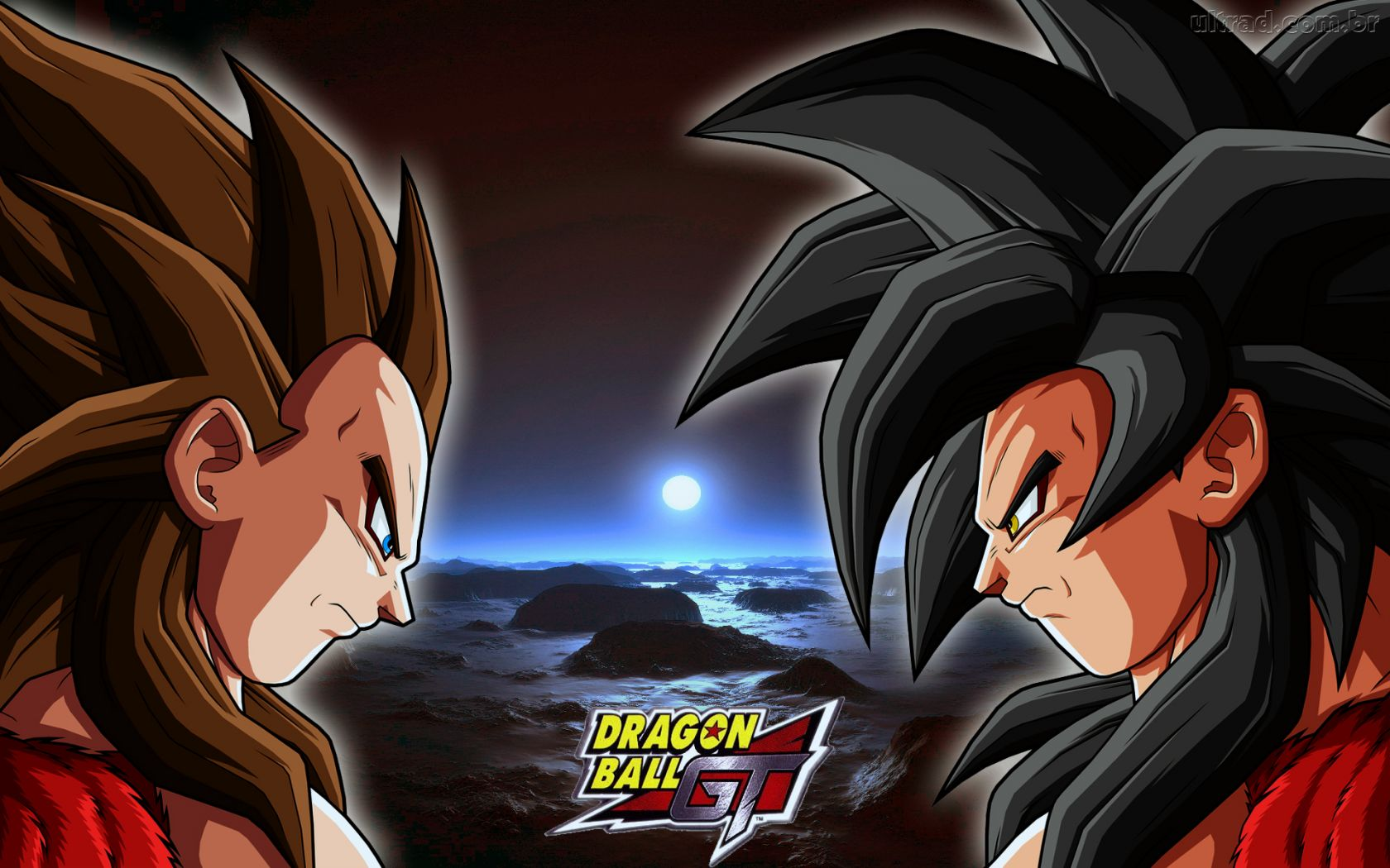 Papel de Parede Goku e Vegeta   Dragon Ball GT 1680x1050