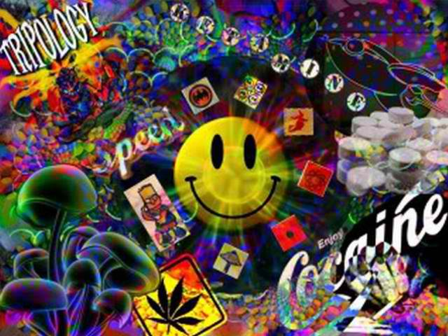 Free Download Related Pictures Trippy Weed Leaf Wallpaper 640x480