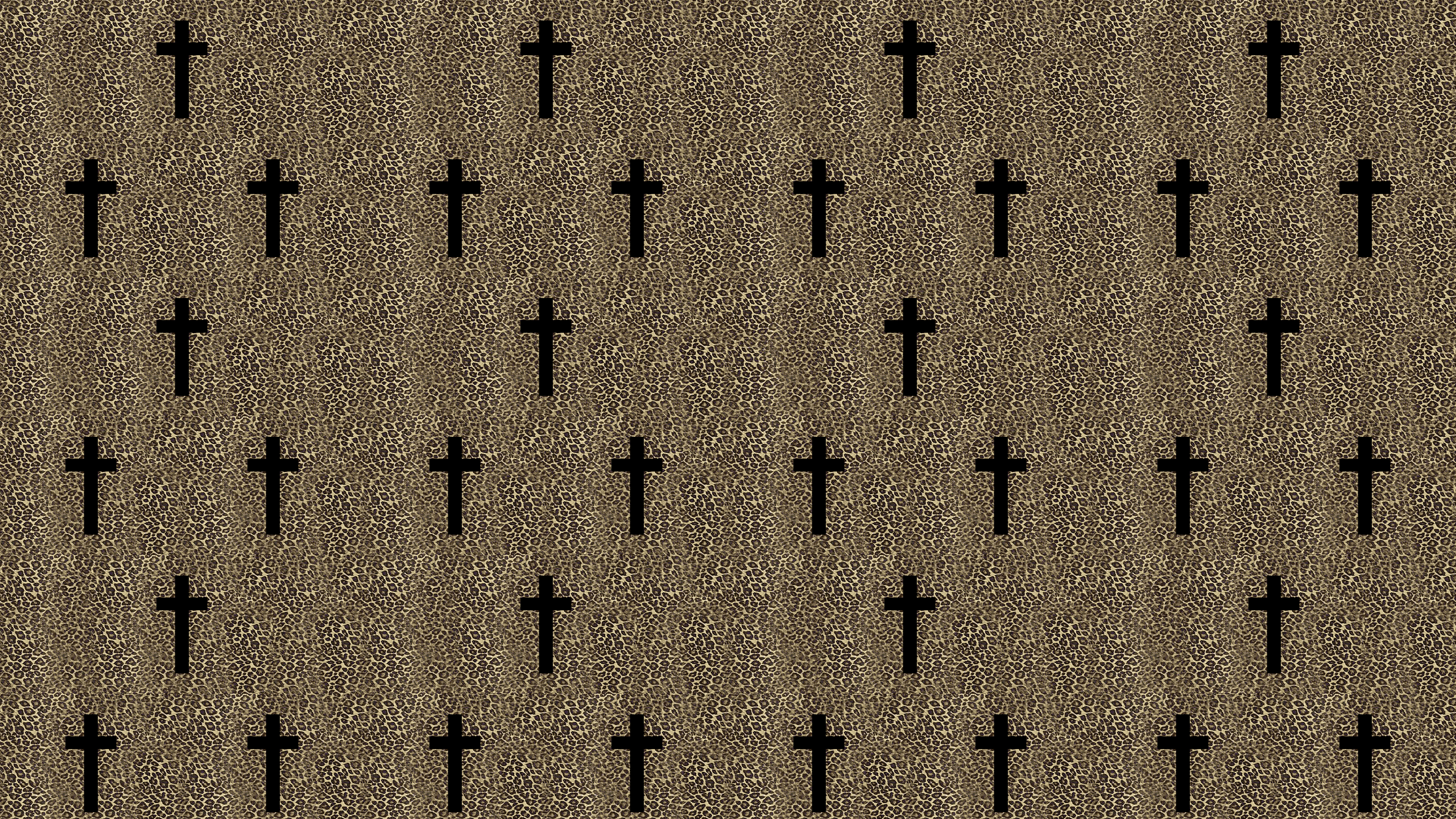 This Leapord Cross Desktop Wallpaper Is Easy Just Save The