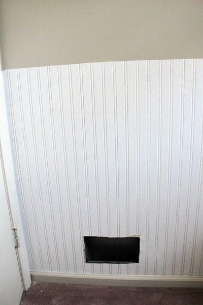 Graham Brown Prepasted Beadboard Wallpaper   would work wonderfully in 400x600