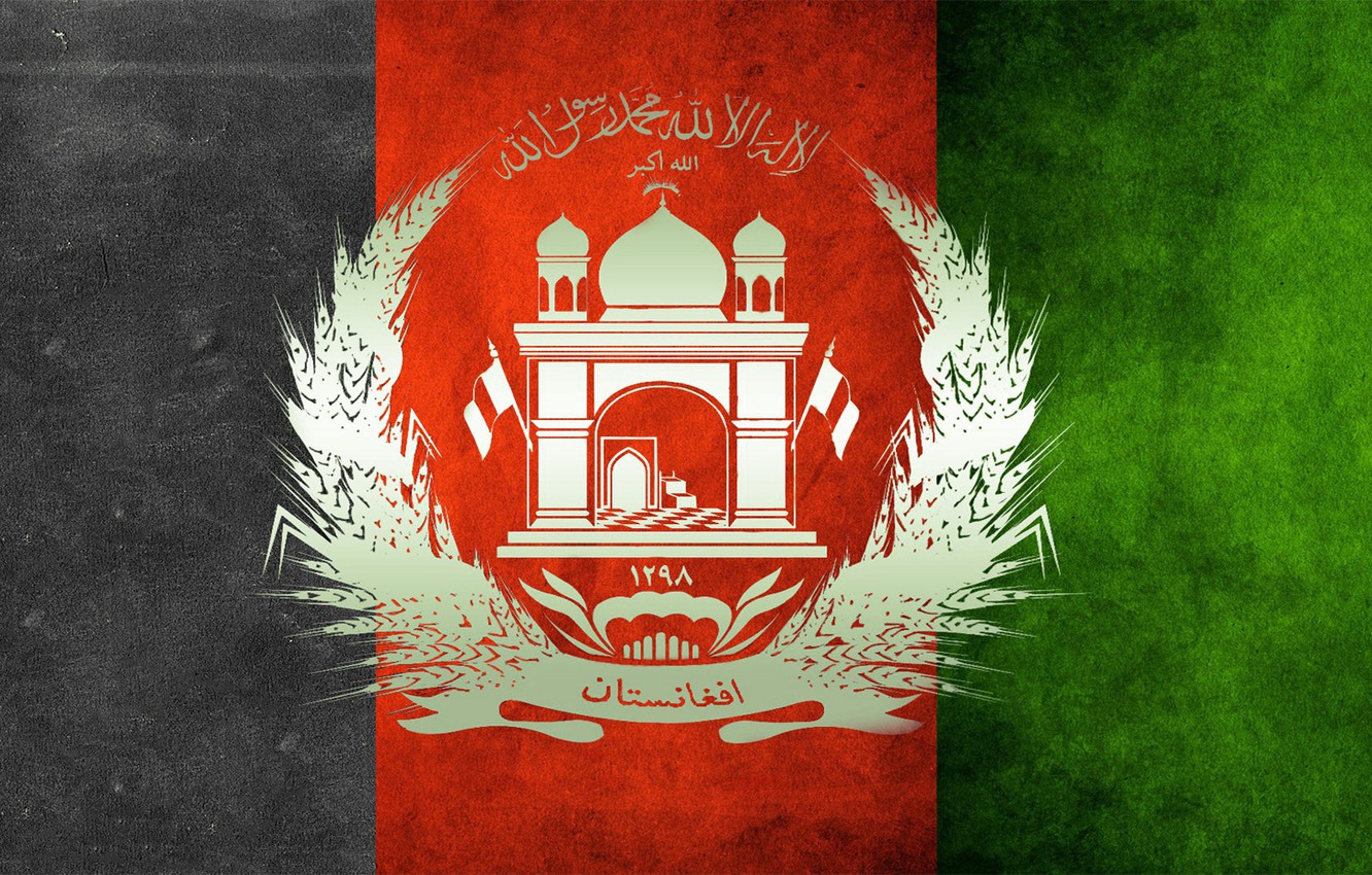 Wallpaper green red black flag afghanistan afghan pashtun 1332x850