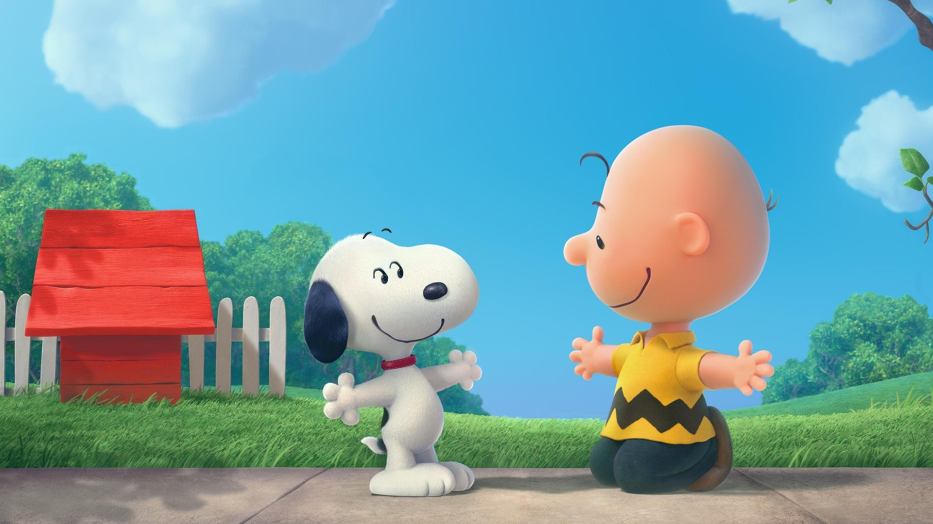 Download Snoopy And Charlie Brown The Peanuts Cartoon HD Wallpaper 1920x1080