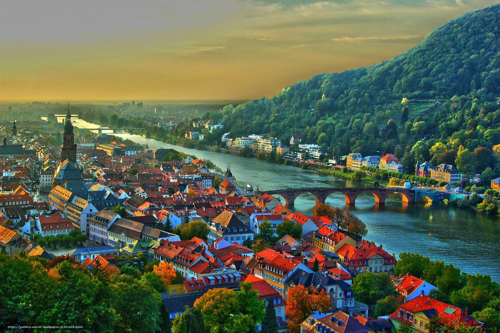 wallpaper heidelberg germany neckar river Heidelberg desktop 1600x1064