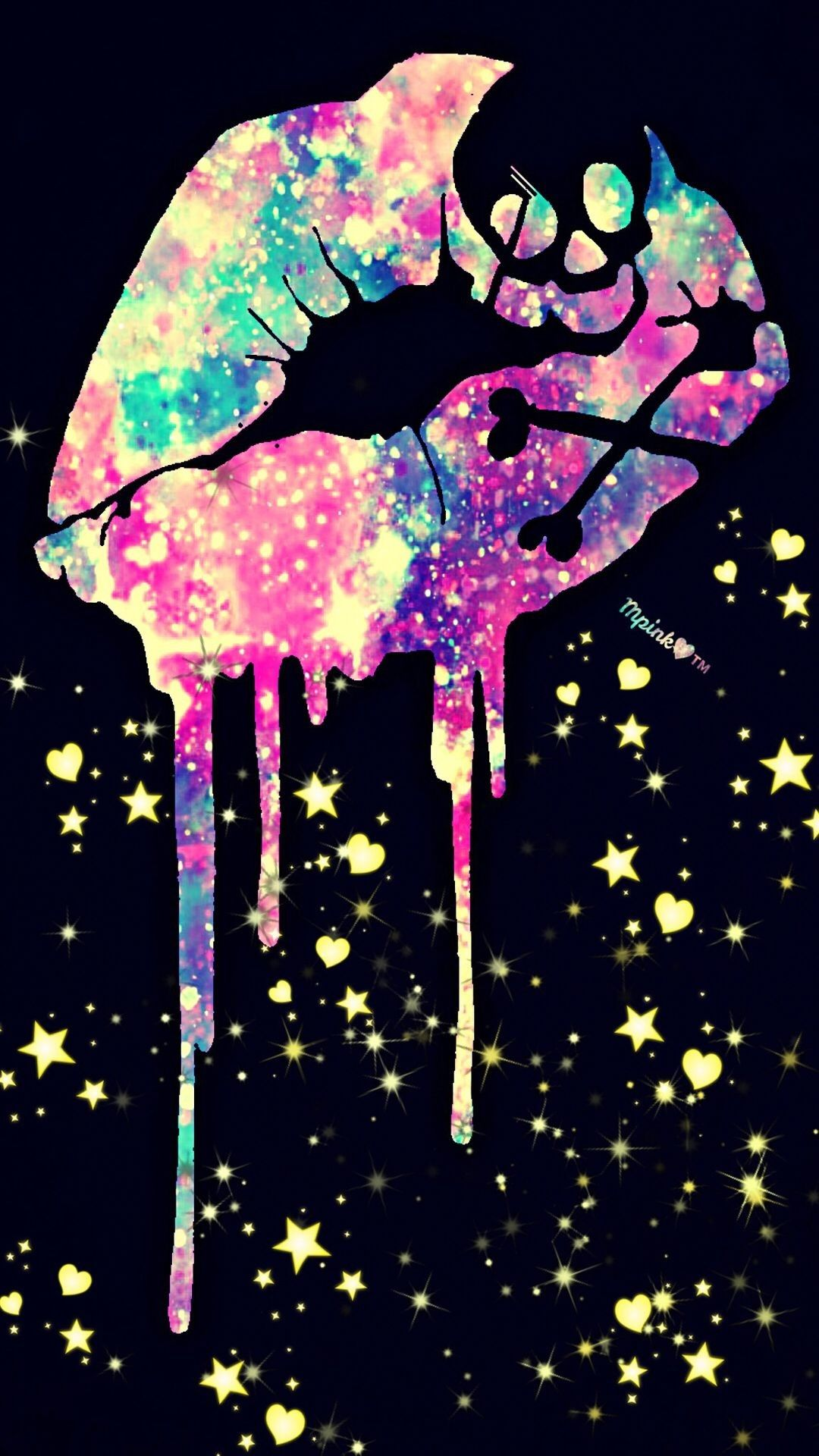 Girly Background Image in 2020 Skull wallpaper Galaxy wallpaper 1080x1920