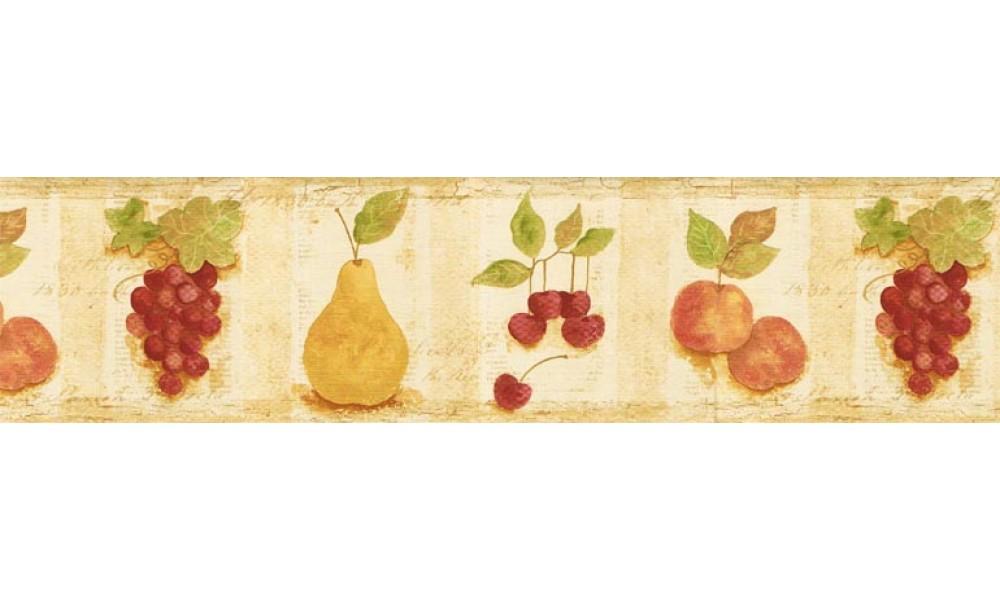 Home Wallpaper Borders Kitchen Borders Fruits Wallpaper 1000x600