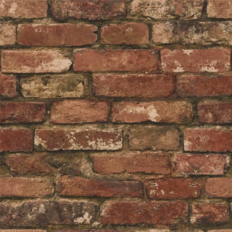 Brown   Realistic   FD31285   Rustic Brick   Fine Decor Wallpaper 800x800
