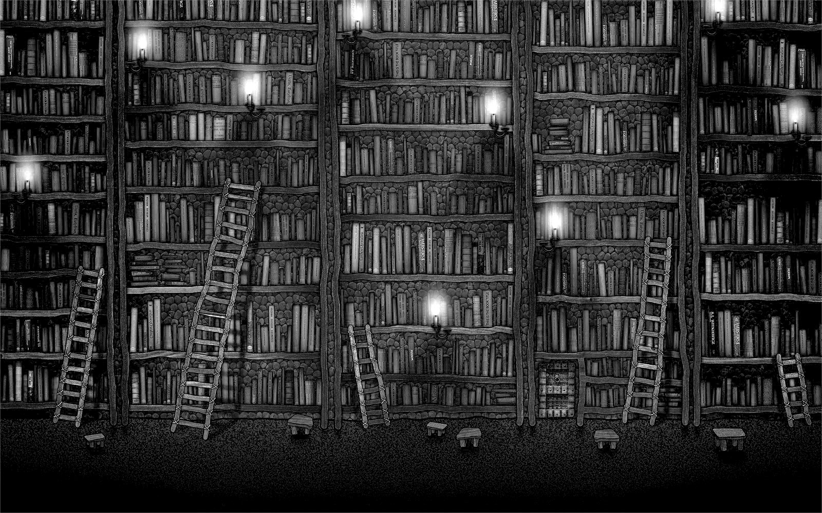 Free Download Library Bookshelf Wallpaper 1600x1000 For