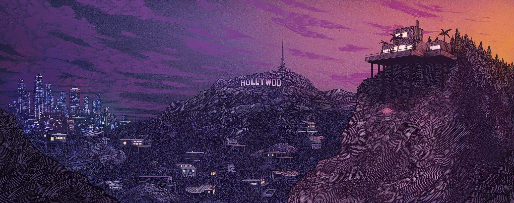 Beautiful Hollywoo Painting Wallpaper retweeted by Bojack Cool 2048x808