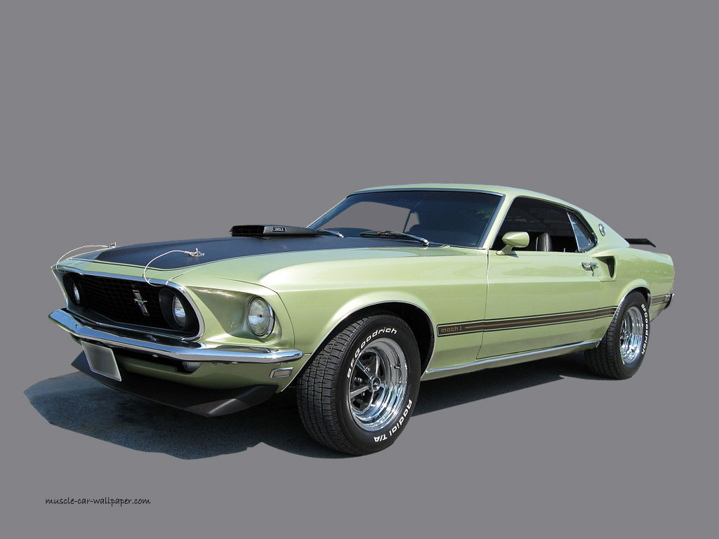 1969 Ford Mustang Mach 1   Green Metallic   Wallpaper 1024 06 1024x768