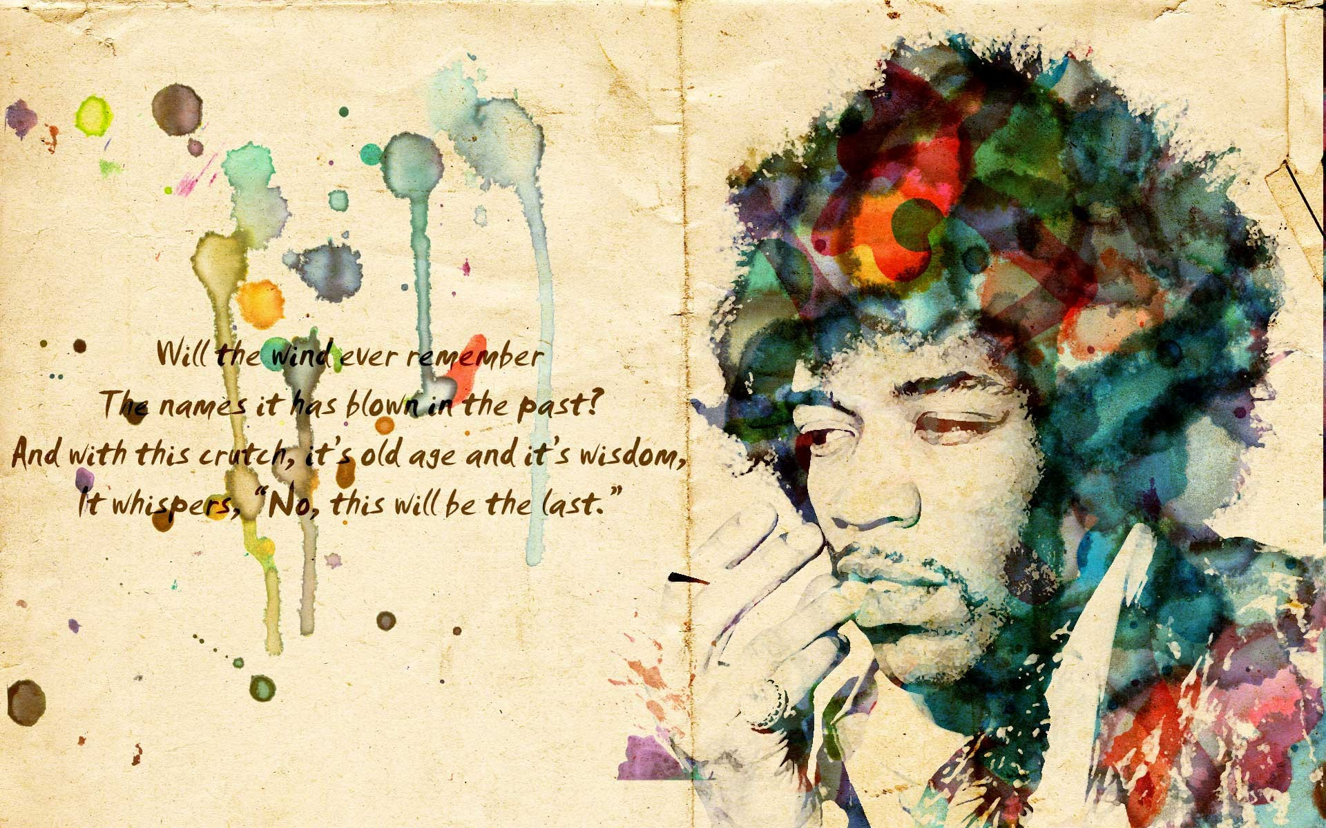 Daily Wallpaper Jimi Hendrix I Like To Waste My Time 1920x1200