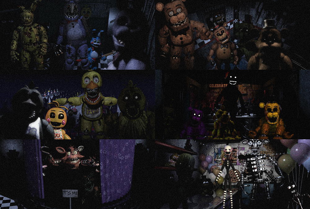 FNAF Wallpaper Pack DOWNLOAD by charliedoes69 1000x675