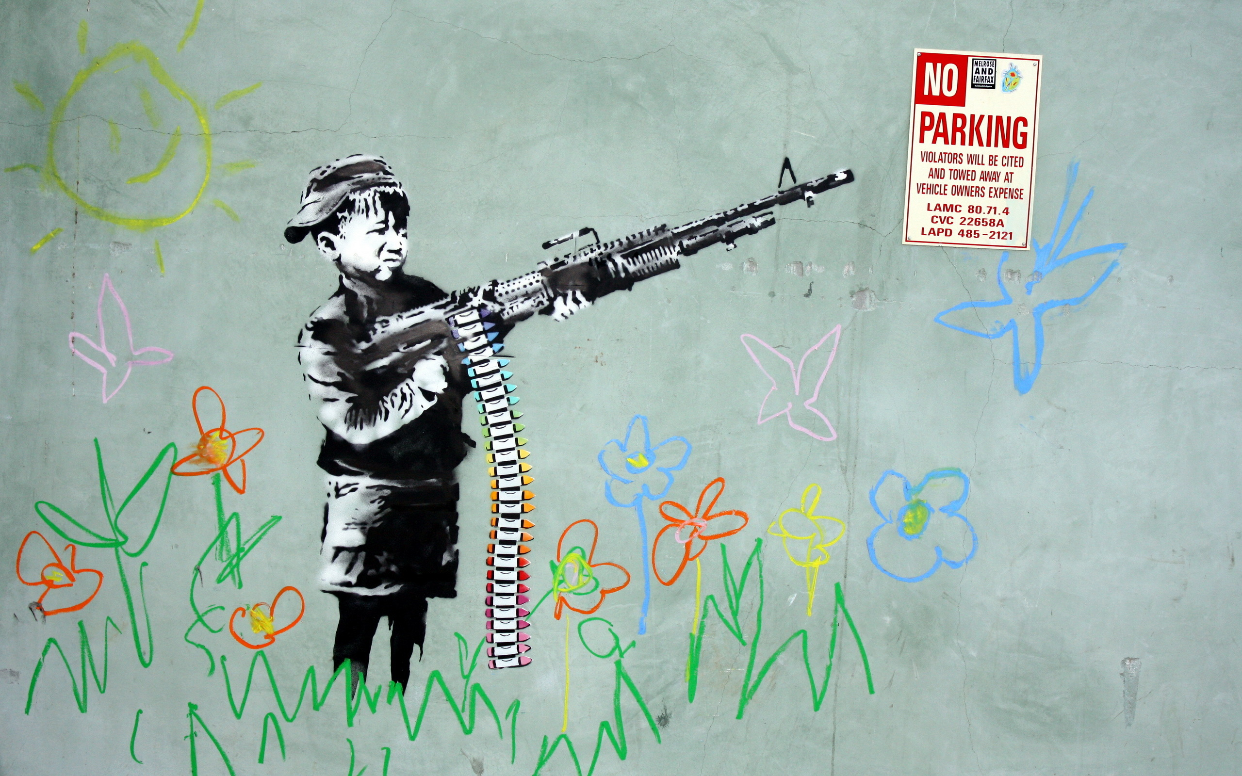 Banksy Wallpaper Hd - WallpaperSafari