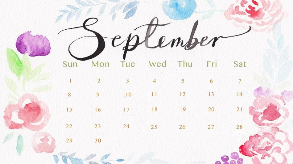 September 2019 Calendar Latest Calendar 950x531