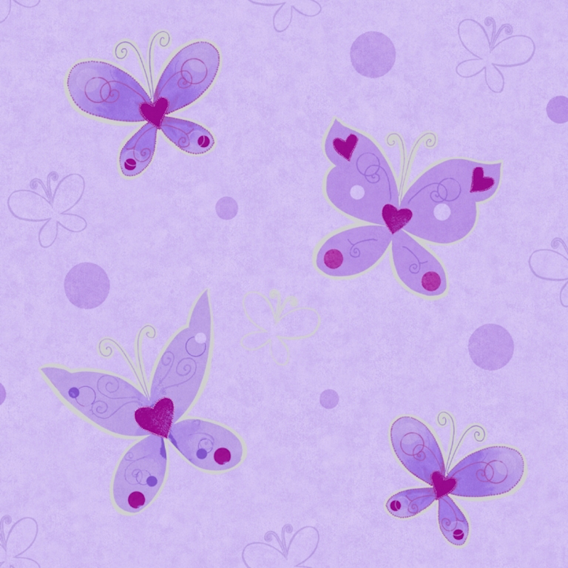 Lilac and silver wallpaper wallpapersafari for Lilac butterfly wallpaper