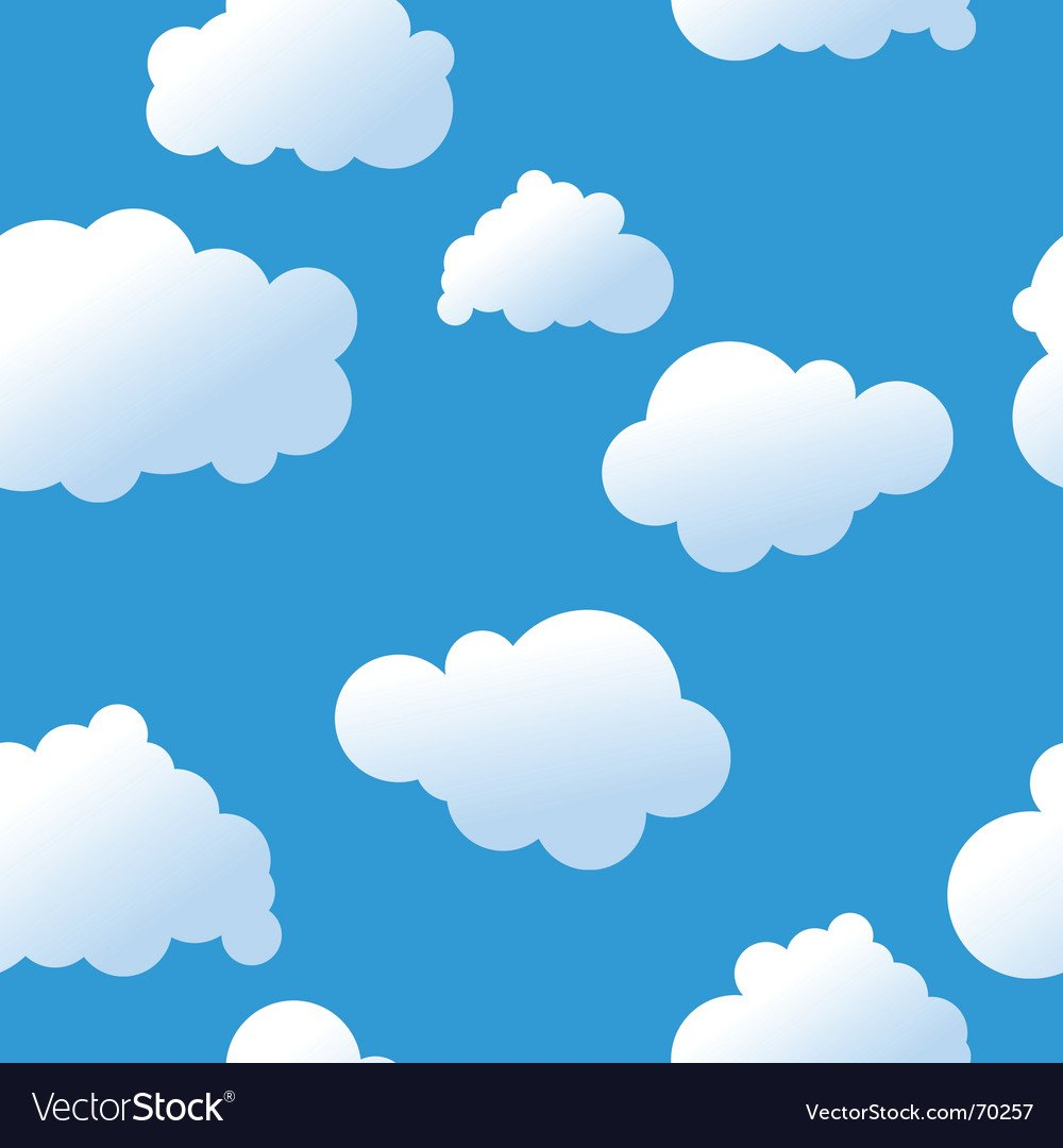 Clouds background Royalty Vector Image   VectorStock 1000x1080