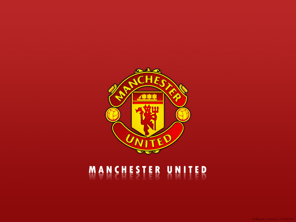 Manchester united logo wallpaper 2 Manchester United 1024x768