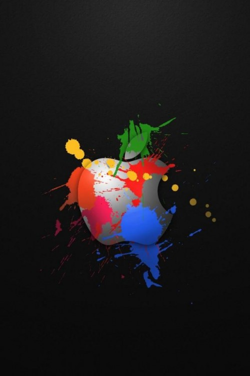 Apple Logo Wallpaper for iPhone 4S 500x750