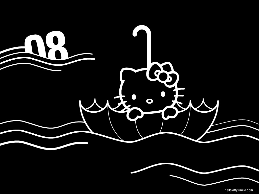 Hello Kitty Black Wallpaper Wallpapersafari