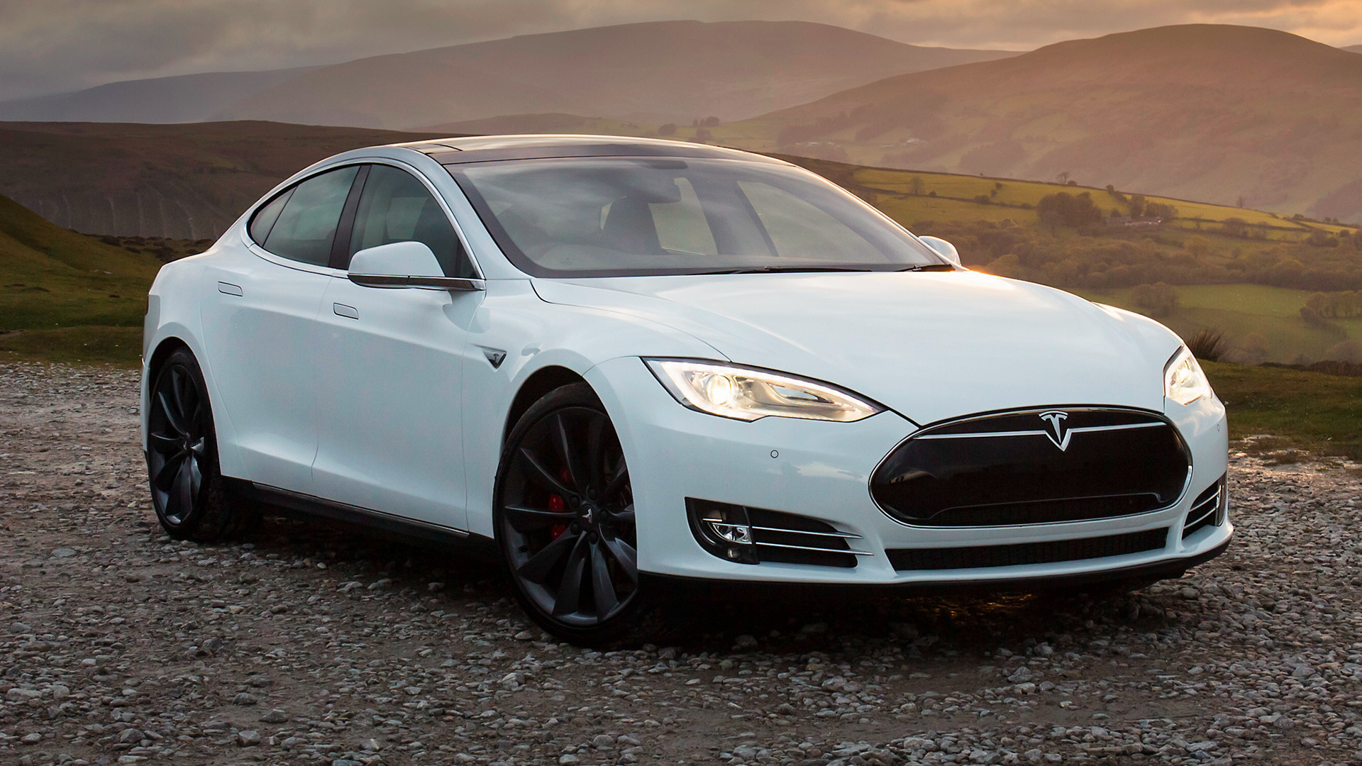Tesla Model S P85 2014 UK Wallpapers and HD Images 1920x1080
