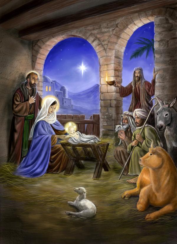 Nativity Scene By Dashinvaine 600x827