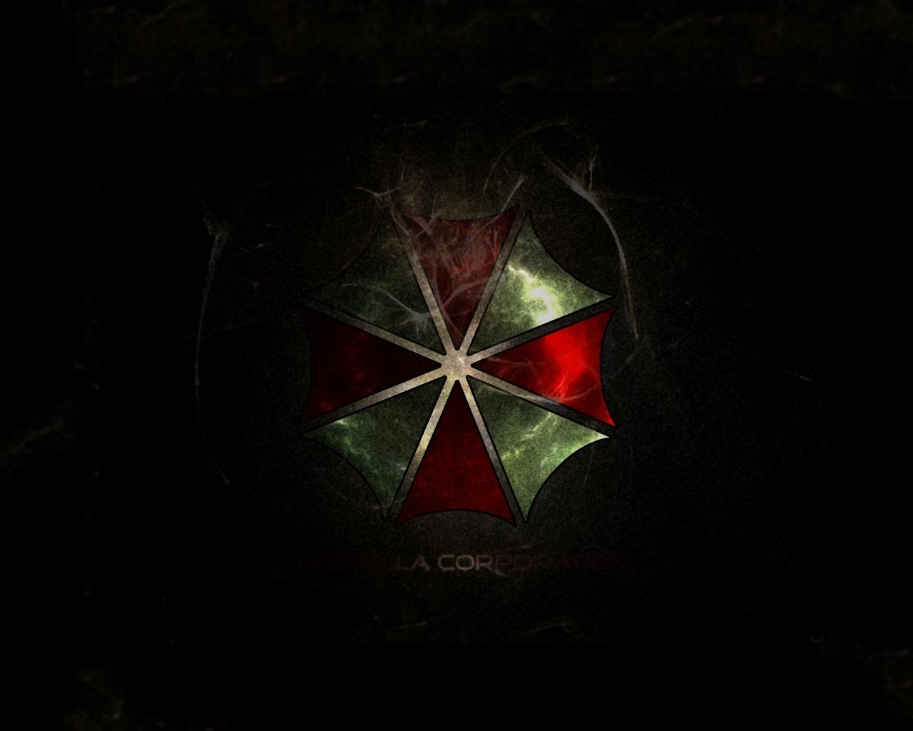 resident evil umbrella corporation title logo symbol wallpaper 1280x1024