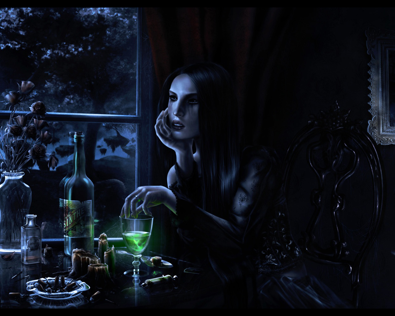 copy of the background wallpaper of these spooky evil witches 1280x1024