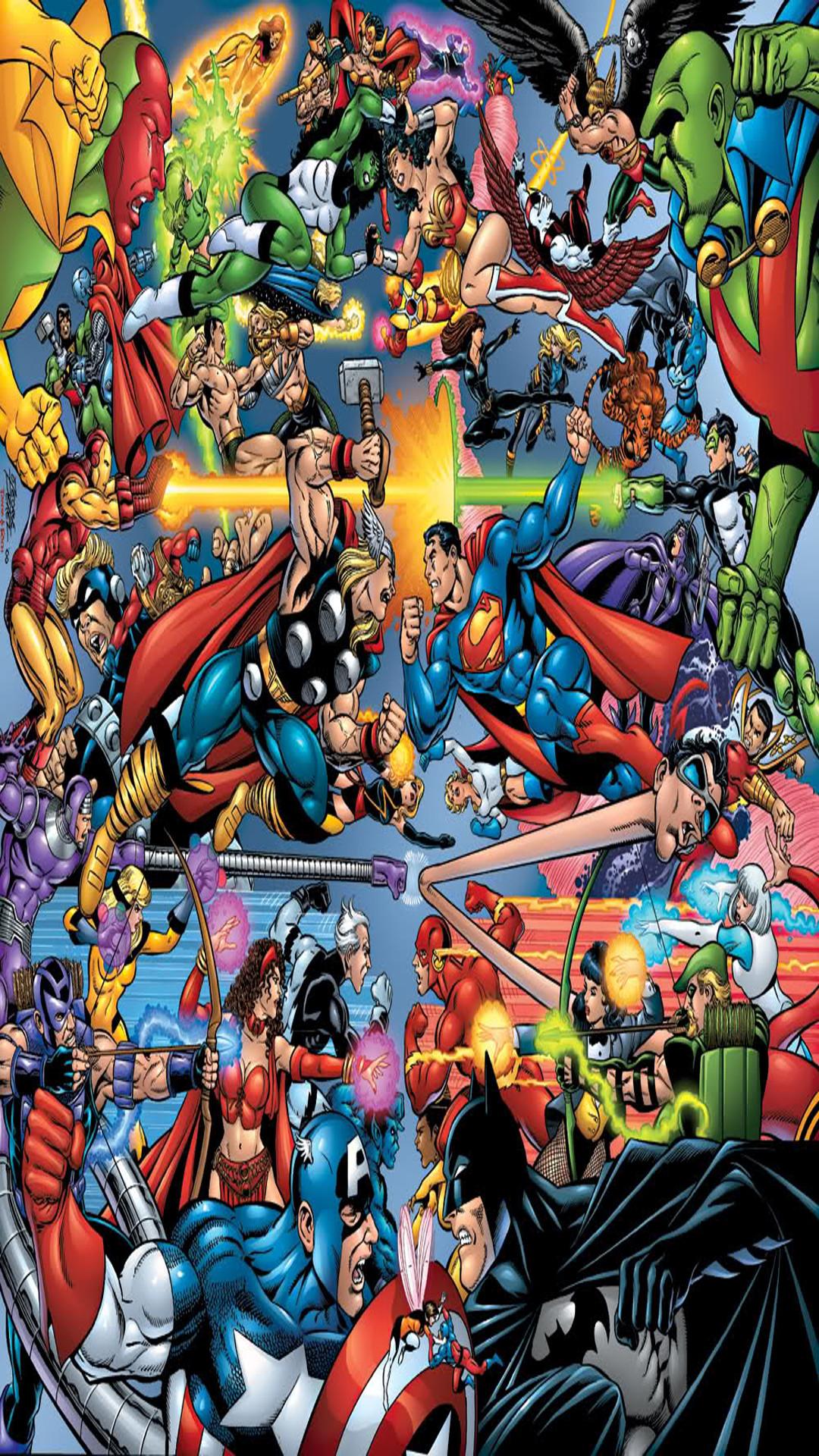 Marvel and DC Wallpaper - WallpaperSafari